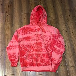 Bleach dyed Red Swearshirt